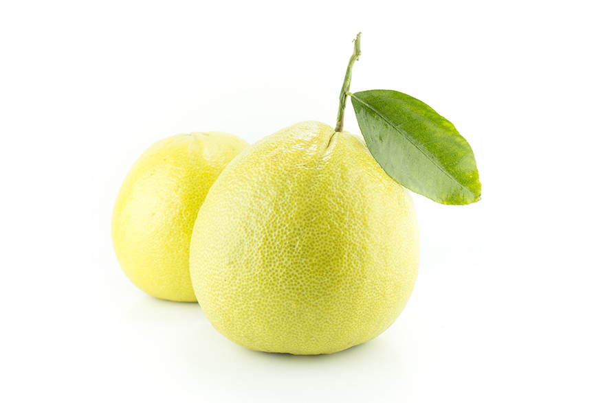 Image of Bergamot fruit on white background